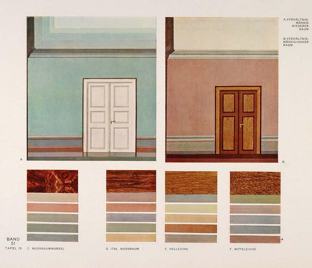 1931 Art Deco Interior Design Wall Colors Room Print ...