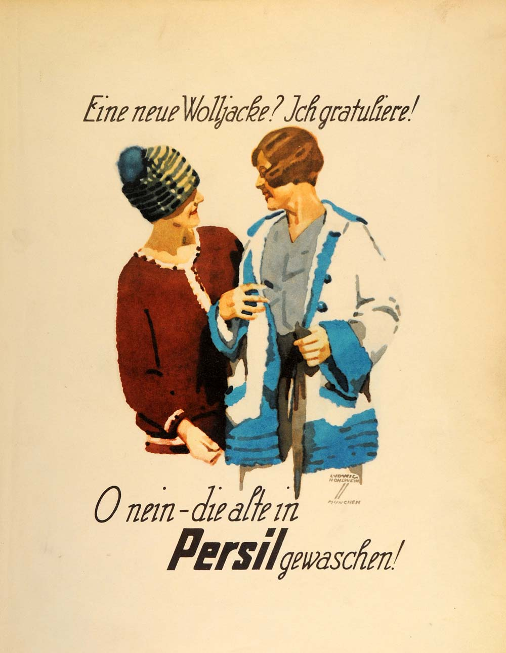 1926 Hohlwein Persil Laundry Soap Lithograph Ad Poster