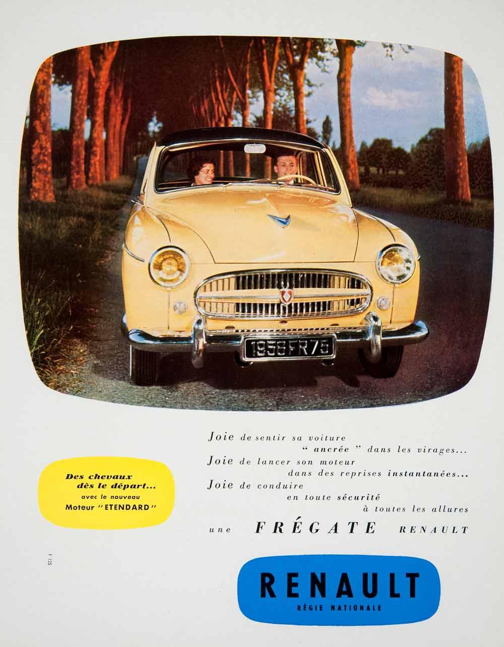 1955 ad renault motor car vehicle french advertisement engine street france ven2 ebay. Black Bedroom Furniture Sets. Home Design Ideas