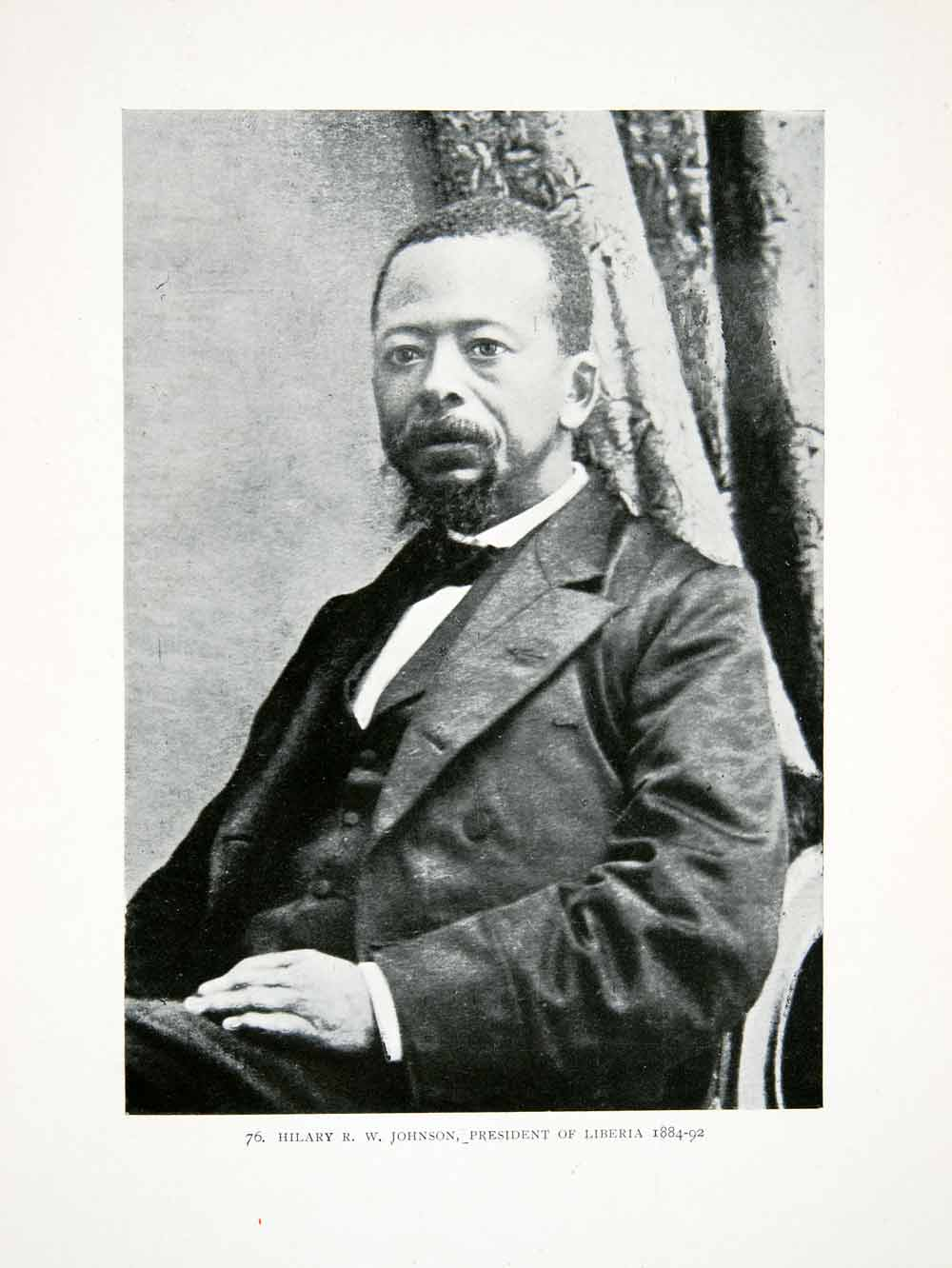 Details about  1906 Print Liberia Africa President Hilary R. W. Johnson Portrait Governmental